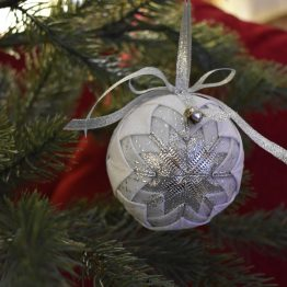 silver colored ornament