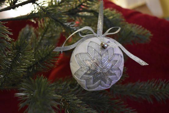 silver colored ornament