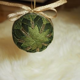 green and gold ornament